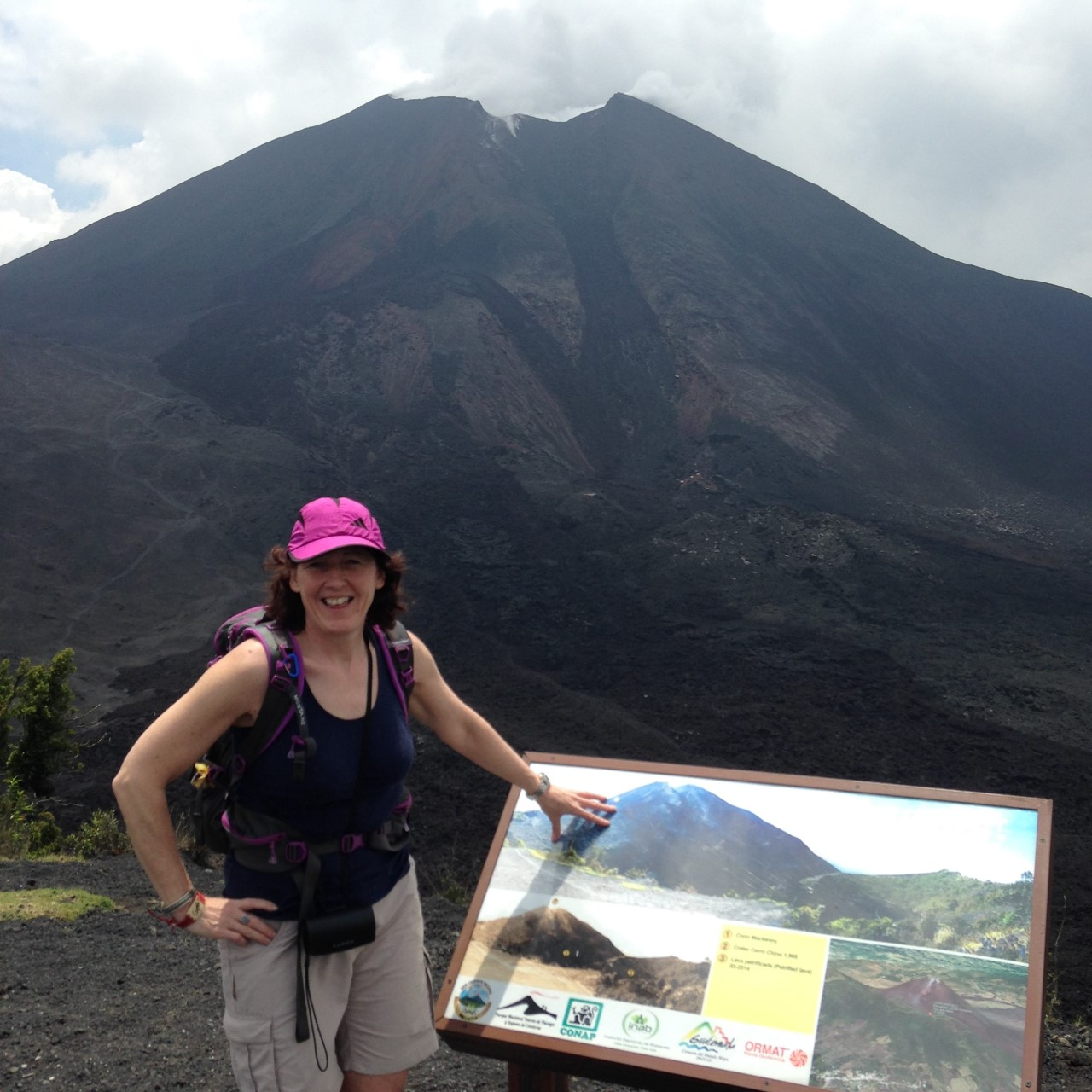 Verde-ecology tours' tourist at Pacaya Volcano 2015